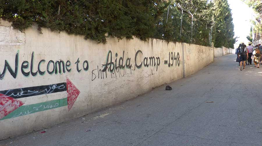Aida Refugee camp from 1948 has become permanent