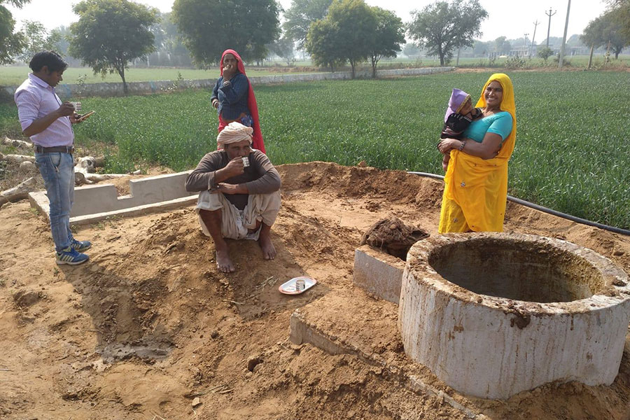 Biogas In The Process With Villagers