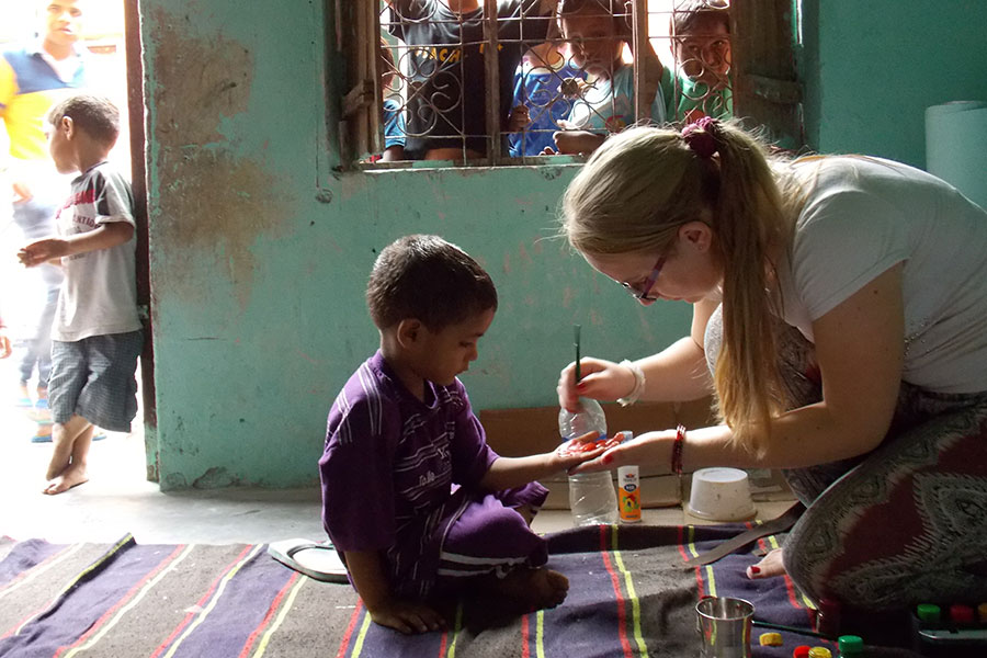 Working with children in India