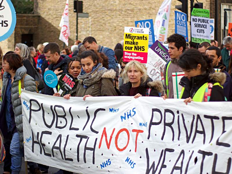 We support the fight for public health care