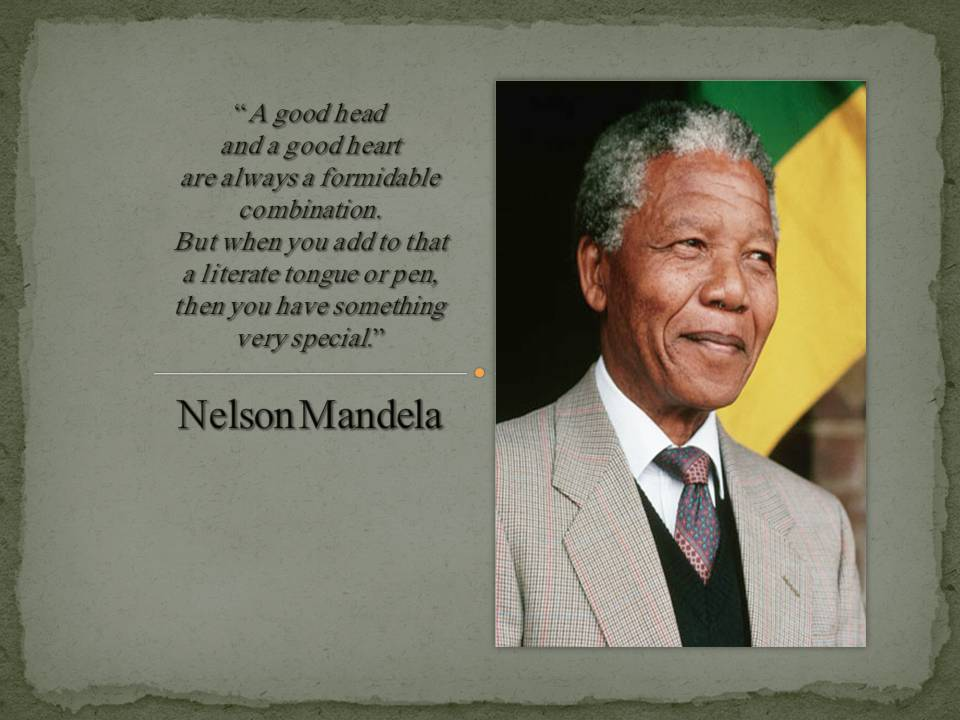 glory and hope nelson mandela